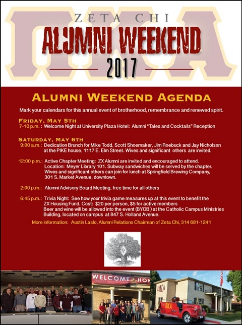 Zeta Chi Alumni Weekend 2017